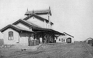 Alegrete - Railroad depot in Alegrete, 1911