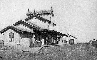 Alegrete - Railroad depot in Alegrete, 1911