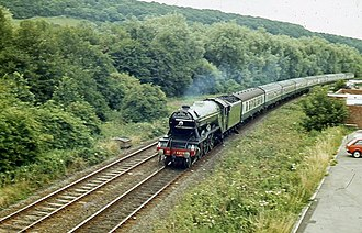 Scarborough Spa Express - 4472 Flying Scotsman approaching Scarborough