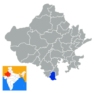 Banswara district - Location in Rajasthan