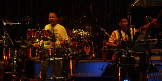 Ralph Johnson (musician) - Johnson, left, performing with Earth Wind and Fire in 2007