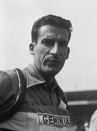 Raphael Geminiani (pictured during the 1954 Tour de France) became Merckx's new team manager with Fiat France for the 1977 season. Raphael Geminiani-a (cropped).jpg