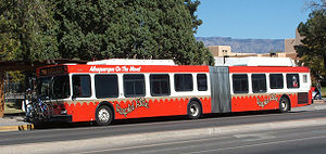 Diesel–electric transmission - New Flyer DE60LF diesel–electric bus with rooftop batteries