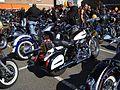 Rassemblement motards en 2008, à la bénédiction des motos à Dinant (Belgique).jpg