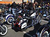 Rassemblement motards en 2008, à la bénédiction des motos à Dinant (Belgique)