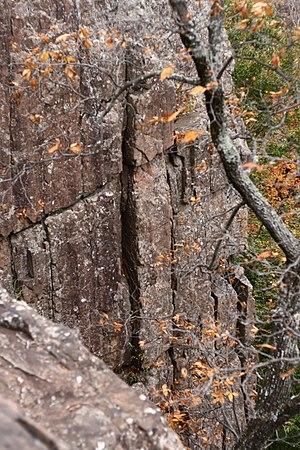 Rattlesnake Mountain (Connecticut) - The Rattlesnake Cliffs, traprock cliffs atop Rattlesnake Mountain
