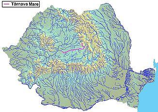 The Târnava Mare in Romania