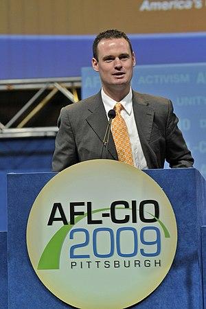 Luke Ravenstahl - Image: Ravenstahl AFL CIO 2009
