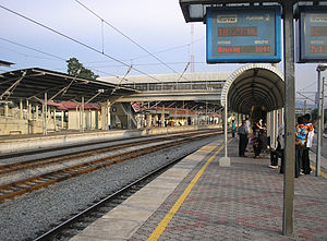 Rawang railway station - A platform view of the Rawang station.