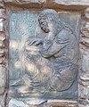 Reading girl relief by Mihály Németh, 2020 Sárvár.jpg