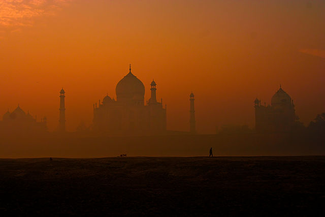 1st place: A rear view of Taj Mahal, by Narender
