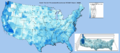 Record 1 day precipitation by USA county 1979 - 2011.png