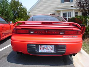 Mitsubishi GTO - Image: Red 92VR4rear