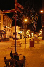 Redruth - Fore St at night.
