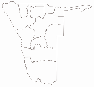 Regions in Namibia gray-white.png