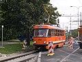 Reko TT Výtoň - Nádraží Braník, Přístaviště, měřák na trati.jpg