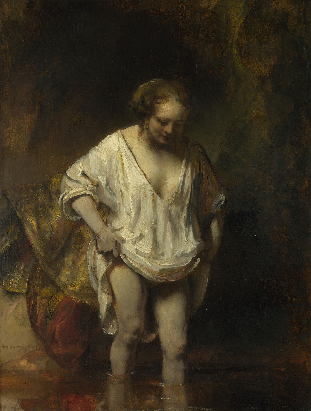 Giovane donna al bagno in un ruscello - Wikipedia