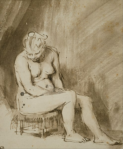 File:Rembrandt Harmenszoon van Rijn - Nude Woman Seated on a Stool - Google Art Project.jpg