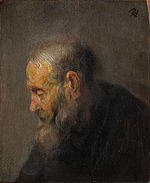 Rembrandt van Rijn - Study of an Old Man in Profile - Google Art Project.jpg