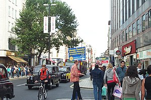 Remittance - Remittance advertising in Oxford Street, London with Polish and Russian