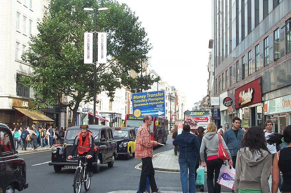 Remittance advert Oxford Street London 20060909