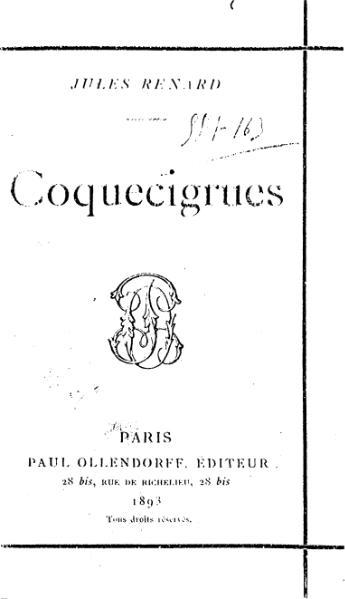File:Renard - Coquecigrues, 1893.djvu