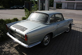 """Renault Caravelle - Renault Caravelle coupe. The sloping rear roof line was partially """"squared off"""" in order to improve rear-seat headroom."""