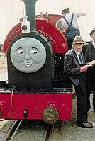 Rev W Awdry and Peter Sam - 1988-05-14.jpg