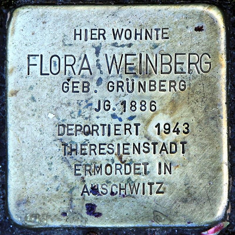 Rhauderfehn - Untenende - 74 - Stolpersteine Weinberg, Flora 01 ies