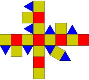 Rhombicuboctahedron Net