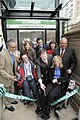 Ribbon cutting at Copley station, October 2010.jpg