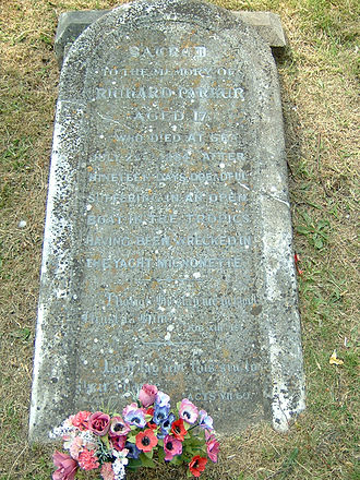 Peartree Green - Memorial stone to Richard Parker in Peartree Green.