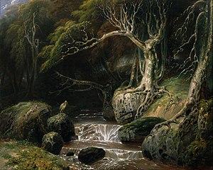 Richard Westall - Landscape by Richard Westall entitled Solitude