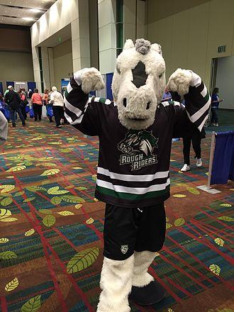 Cedar Rapids RoughRiders - Cedar Rapids RoughRiders mascot Ricochet.
