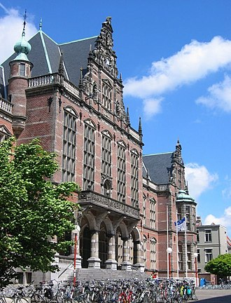 Groningen - Main building of the University of Groningen (2004)