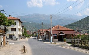 Rila, Bulgaria - Main street in town Rila
