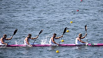 Canoe sprint - Image: Rio 2016. Canoagem de Velocidade Canoe sprint (29142985285)