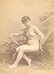 Risque Nude Girl Artist Study France old Photo CC 1880 2.jpg