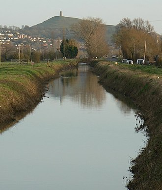 River Brue - River Brue and Glastonbury Tor