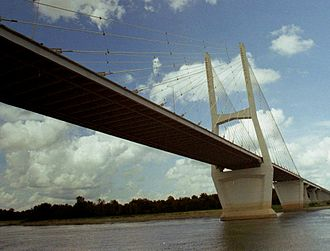 U.S. Route 82 - The Mississippi River bridge between Arkansas and Mississippi