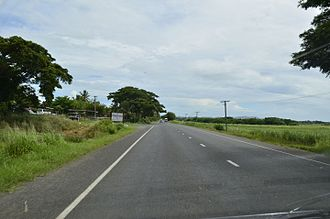 Nadi - Tarsealed road outside Nadi