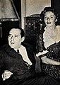 Roberto Rossellini and Ingrid Bergman, 1953.jpg