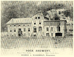 Cedar Hill (New Haven) - Rock Street Brewery, Cedar Hill, New Haven, CT The Brewery burned down in the 1890s.