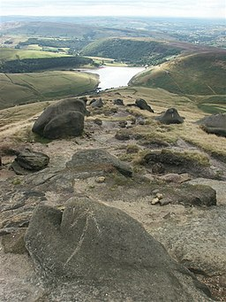 Rocky headland, Kinder Scout - geograph.org.uk - 222486