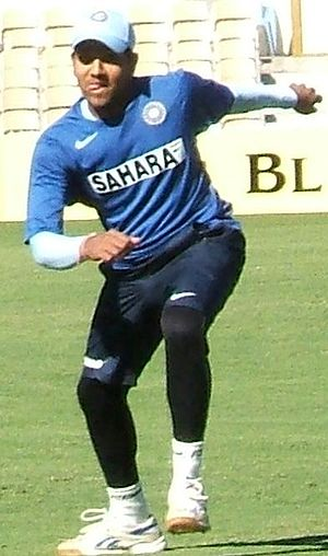 Rohit Sharma - Sharma at fielding practice.