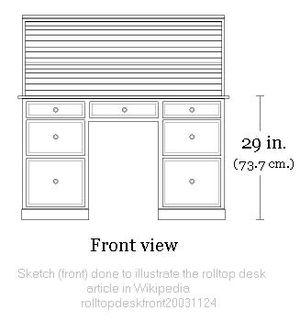 Rolltop desk - Image: Rolltop desk sketch