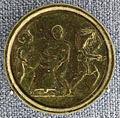 Roma, medaglione contorniato al tipo di nerone, IV-V secolo dc. 02.JPG