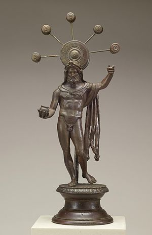 Sucellus - This statue of Sucellus is the earliest known likeness of the god (ca. 1st century AD). It is from a Roman home in France and was found in a household shrine (lararium). Walters Art Museum, Baltimore.