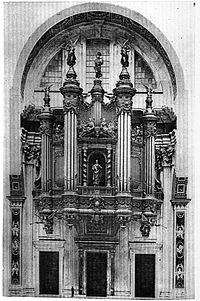 Proyecto de órgano para la basílica ofrecido a León XIII en 1888.