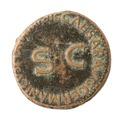 Romerskt kopparmynt - Skoklosters slott - 100202.tif